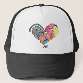 Kauai Love Rooster Heartimal Trucker Hat