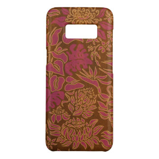 Kauai Morning Hawaiian Protea Faux Wood Floral Case-Mate Samsung Galaxy S8 Case