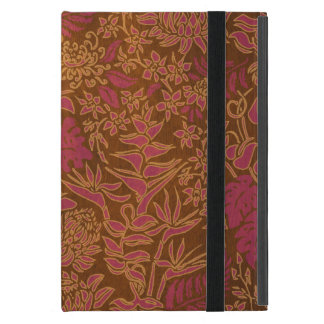Kauai Morning Hawaiian Protea Faux Wood Floral Cover For iPad Mini