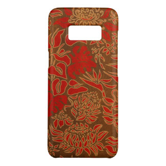 Kauai Morning Hawaiian Protea Faux Wood Red Floral Case-Mate Samsung Galaxy S8 Case