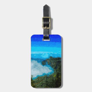 Kauai Na Pali Coast From Koke'e Abstract Luggage Tag