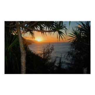 Kauai Na Pali Coast Sunset Poster