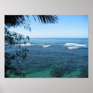 kauai ocean poster