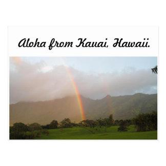 kauai rainbow postcard