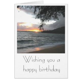 Kauai Sunset Birthday Card