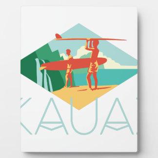 Kauai Surfers Display Plaque