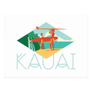Kauai Surfers Postcard