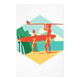 Kauai Surfers Stationery