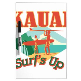 Kauai Surfs Up Dry-Erase Board