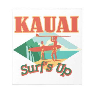Kauai Surfs Up Notepads