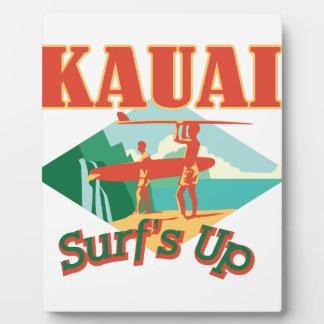 Kauai Surfs Up Plaque