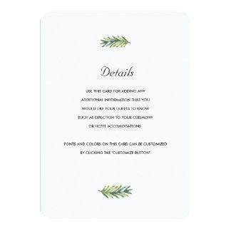 Kauai Wedding Insert Card