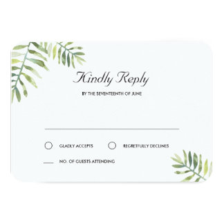 Kauai Wedding RSVP Card