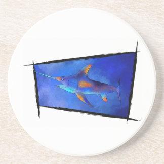 Kauderon V1 - Beautiful Swordfish Beverage Coaster