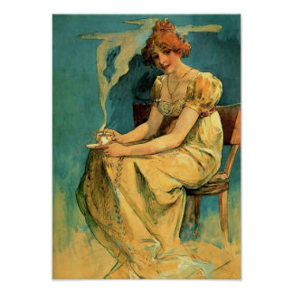 Kava By Alphonse (Alfons) Mucha Poster