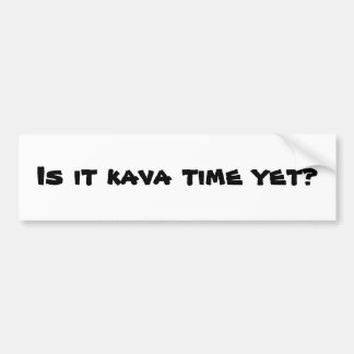 kava time bumper sticker