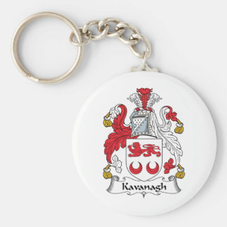 Kavanagh Family Crest Basic Round Button Key Ring