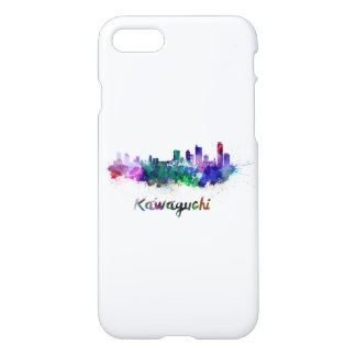 Kawaguchi skyline in watercolor iPhone 7 case