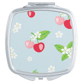 kawai,cherry,cute,trendy,girly,floral,modern,kids, vanity mirror
