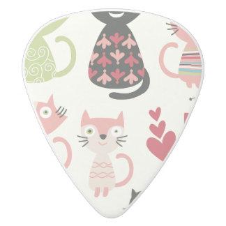 kawai,cute,cats,butterflies,fish,hearts,fun,happy, white delrin guitar pick
