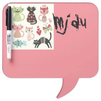 kawai,cute,cats,butterflies,fish,hearts,fun,happy, Dry-Erase board