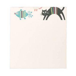 kawai,cute,cats,butterflies,fish,hearts,fun,happy, memo pad