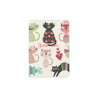 kawai,cute,cats,butterflies,fish,hearts,fun,happy, passport holder