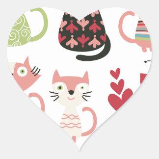 kawai,cute,cats,butterflies,fish,hearts,fun,happy, heart sticker