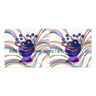 Kawai monster,colorful,abstract,fun,happy,kids custom rack card