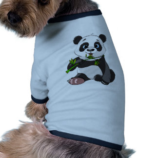kawai panda eating palm leaf cute trendy lovely doggie tshirt