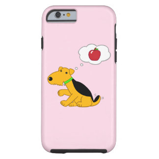 Kawaii Airedale Dog w Apple iPhone/6/6s case