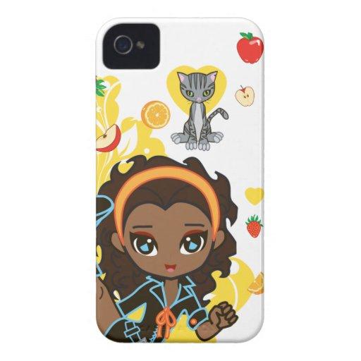Kawaii Aisha the African American Chibi 9700/9780 Blackberry Cases