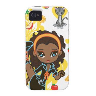 Kawaii Aisha the African American Chibi iPhone 4 C iPhone 4 Case
