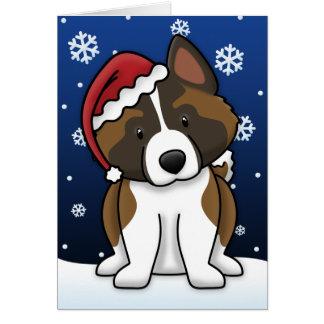 Kawaii Akita Christmas Card