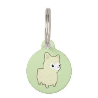 Kawaii alpaca pet name tag