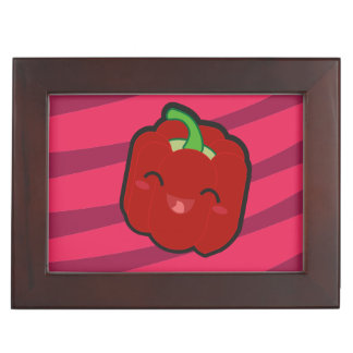 Kawaii and funny red pepper keepsake boxes