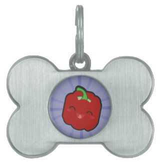 Kawaii and funny red pepper pet tag