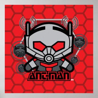 Kawaii Ant-Man Graphic Poster