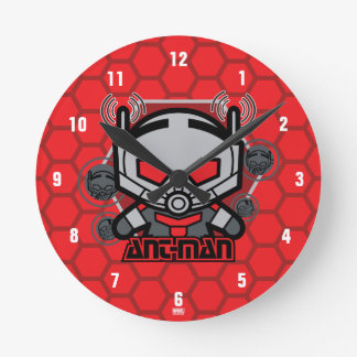 Kawaii Ant-Man Graphic Round Clock