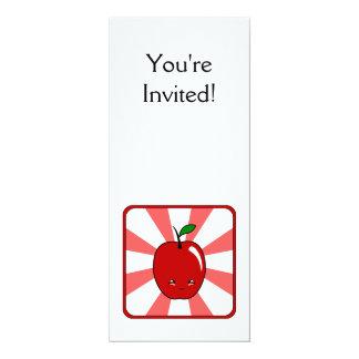 Kawaii Apple (Boy) 10 Cm X 24 Cm Invitation Card