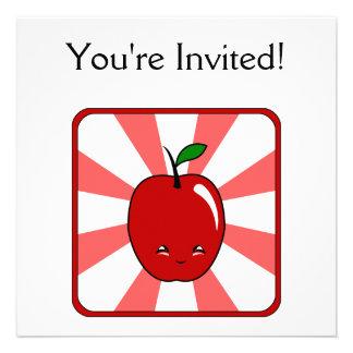 Kawaii Apple Boy Custom Invites
