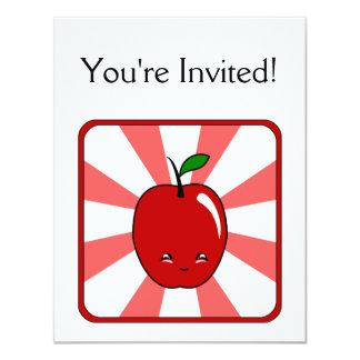 Kawaii Apple (Boy) Custom Invites