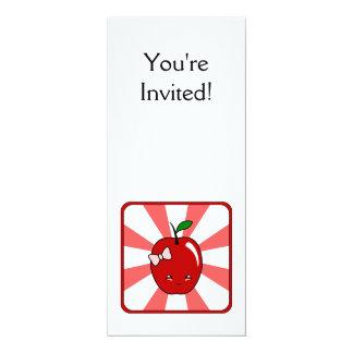 Kawaii Apple (Girl) 10 Cm X 24 Cm Invitation Card