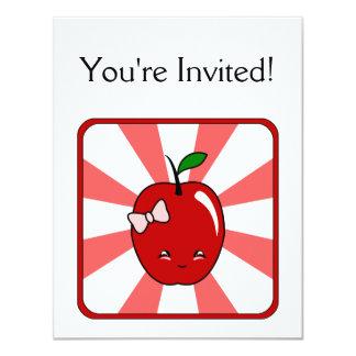 Kawaii Apple (Girl) 11 Cm X 14 Cm Invitation Card