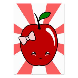 Kawaii Apple (Girl) Business Card Templates
