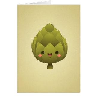 Kawaii Artichoke Card