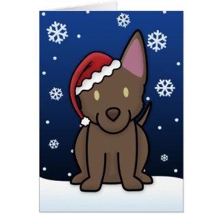 Kawaii Australian Kelpie Christmas Card