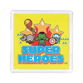 Kawaii Avenger Super Heroes Graphic Acrylic Tray