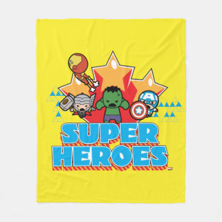 Kawaii Avenger Super Heroes Graphic Fleece Blanket