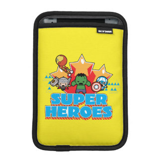 Kawaii Avenger Super Heroes Graphic iPad Mini Sleeve